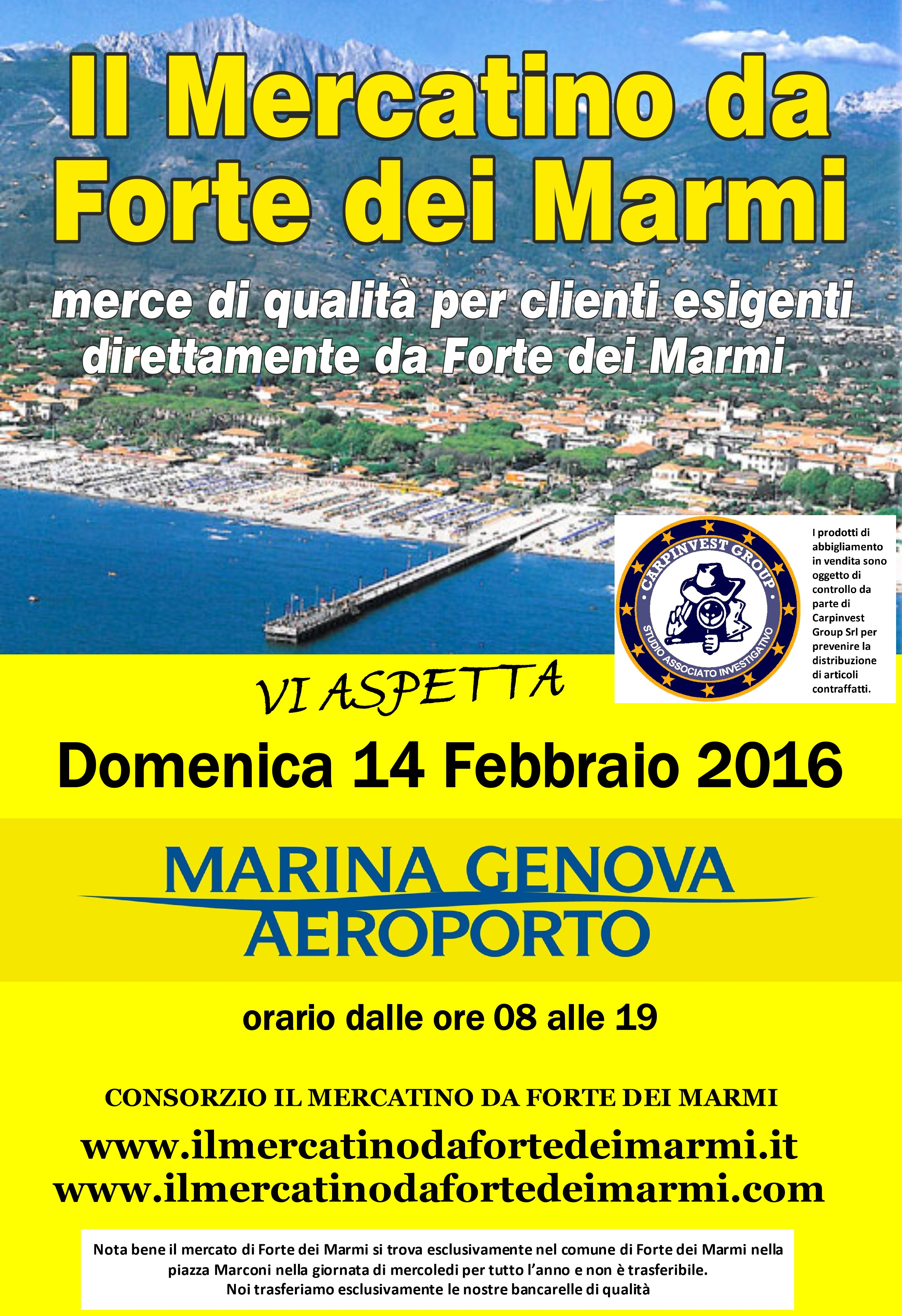 Calendario Mercato Forte Dei Marmi 2020.Mercatino Di Forte Dei Marmi A Genova Visitgenoa It