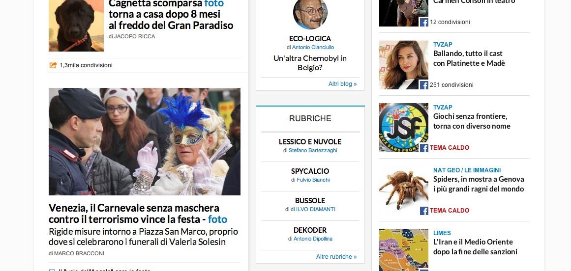 I ragni vivi pi grandi del mondo a genova for Home page repubblica