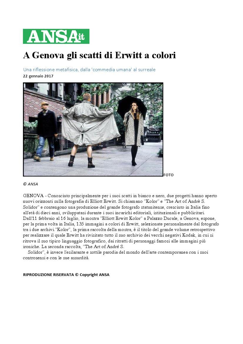 A genova gli scatti di erwitt a colori for Elliott erwitt genova