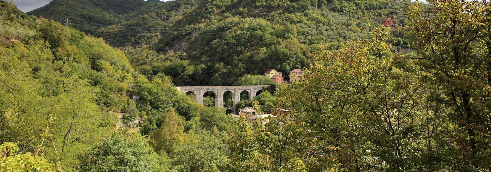 Un tratto dell'acquedotto storico