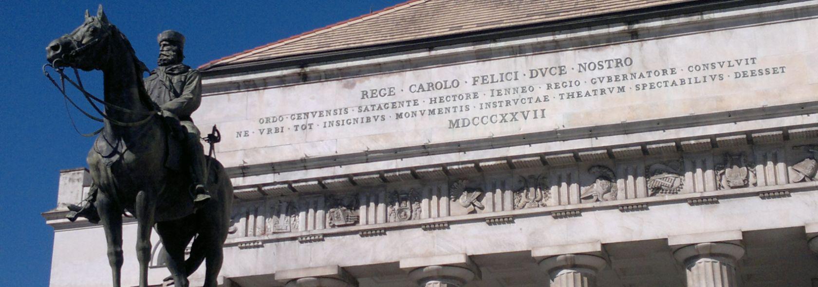 Il Teatro Carlo Felice - frontone