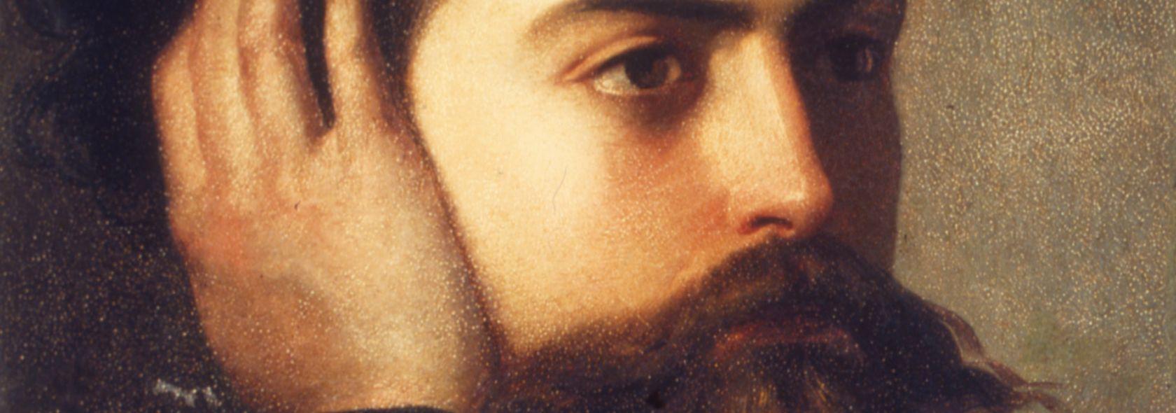 Domenico Induno - Ritratto di Goffredo Mameli (Museo del Risorgimento, Genova)