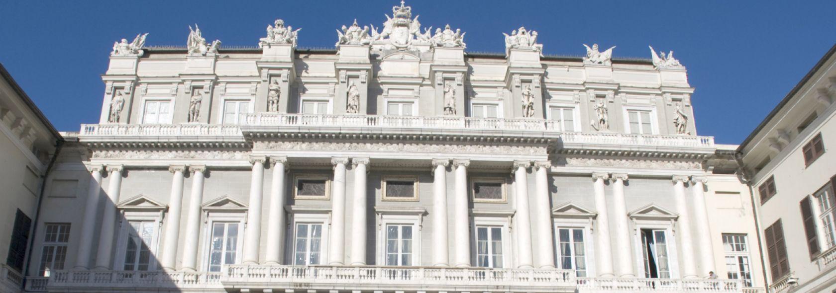 Facciata di Palazzo Ducale - Foto Ufficio Comunicazione Città Metropolitana di G