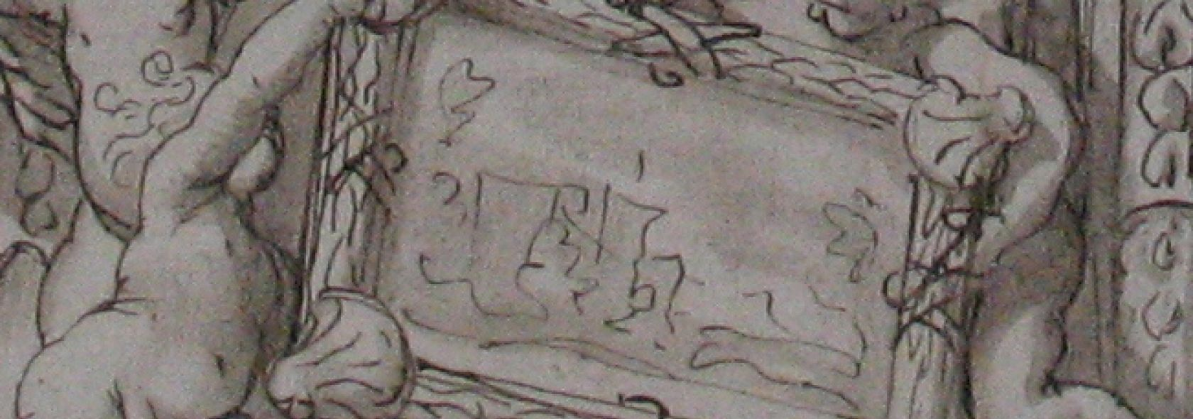 Gabinetto disegni e stampe - Domenico Piola - Fregio con putti e finti quadri