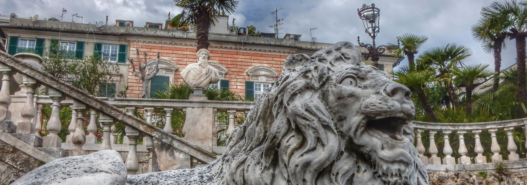 Genova Cornigliano, villa Serra Ricchini giardino
