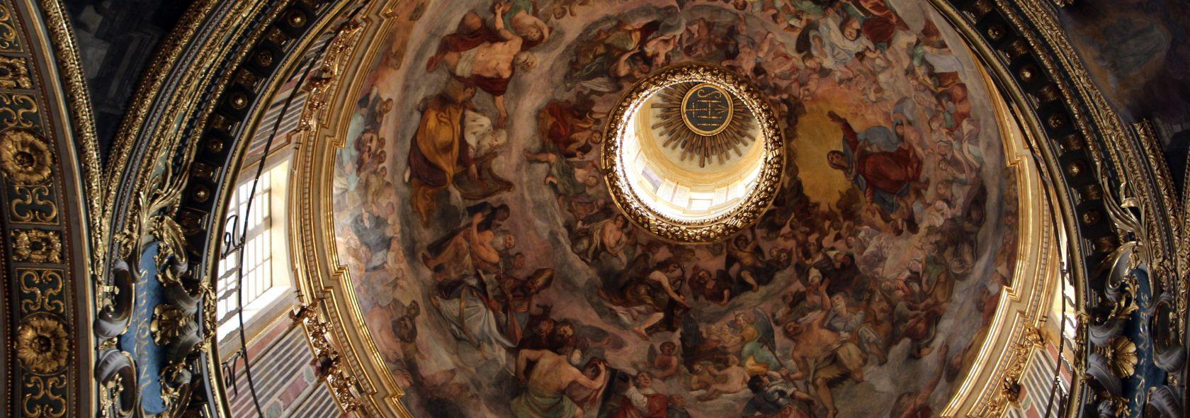 Giovanni Battista Carlone, Affreschi della cupola foto: Sailko CC3.0