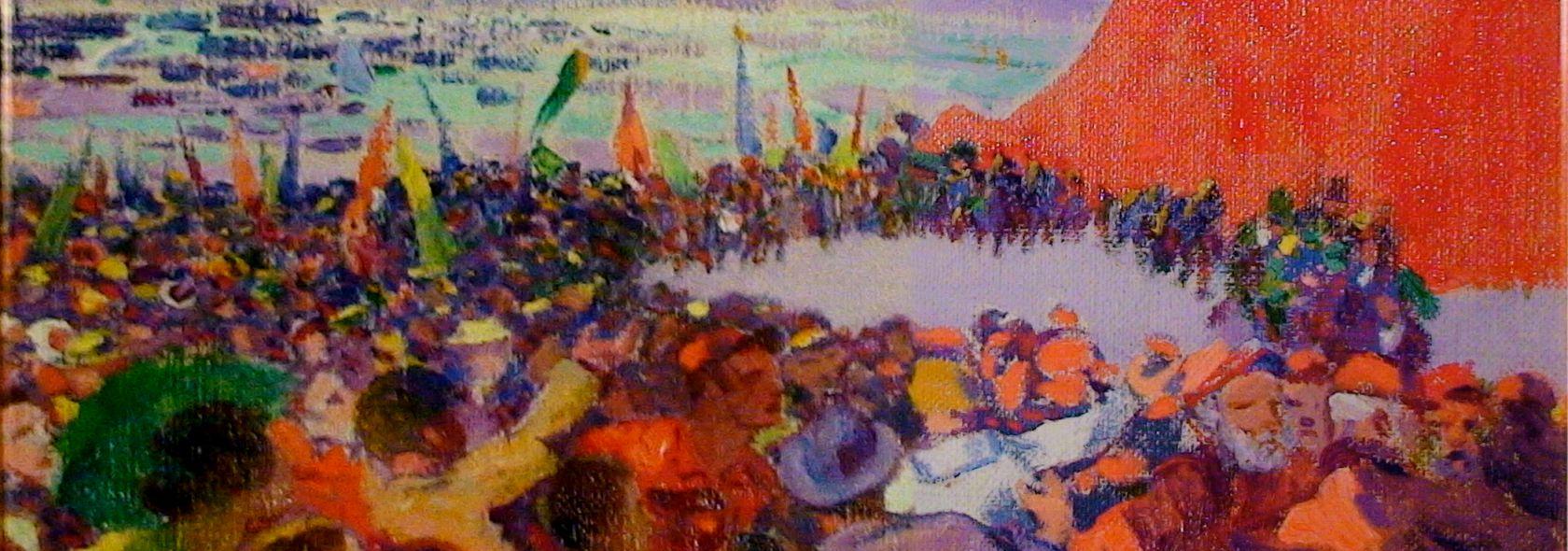 Plinio Nomellini - Quarto 5 maggio - olio su tela - 1915