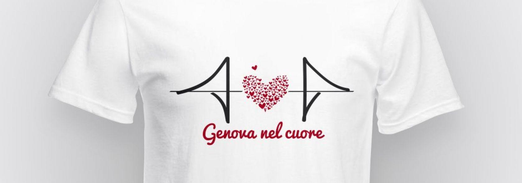 """T-shirt  """"Genova nel cuore"""""""