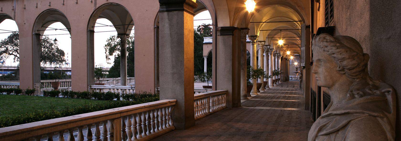 Villa del Principe Palazzo di Andrea Doria - Veduta del porticato