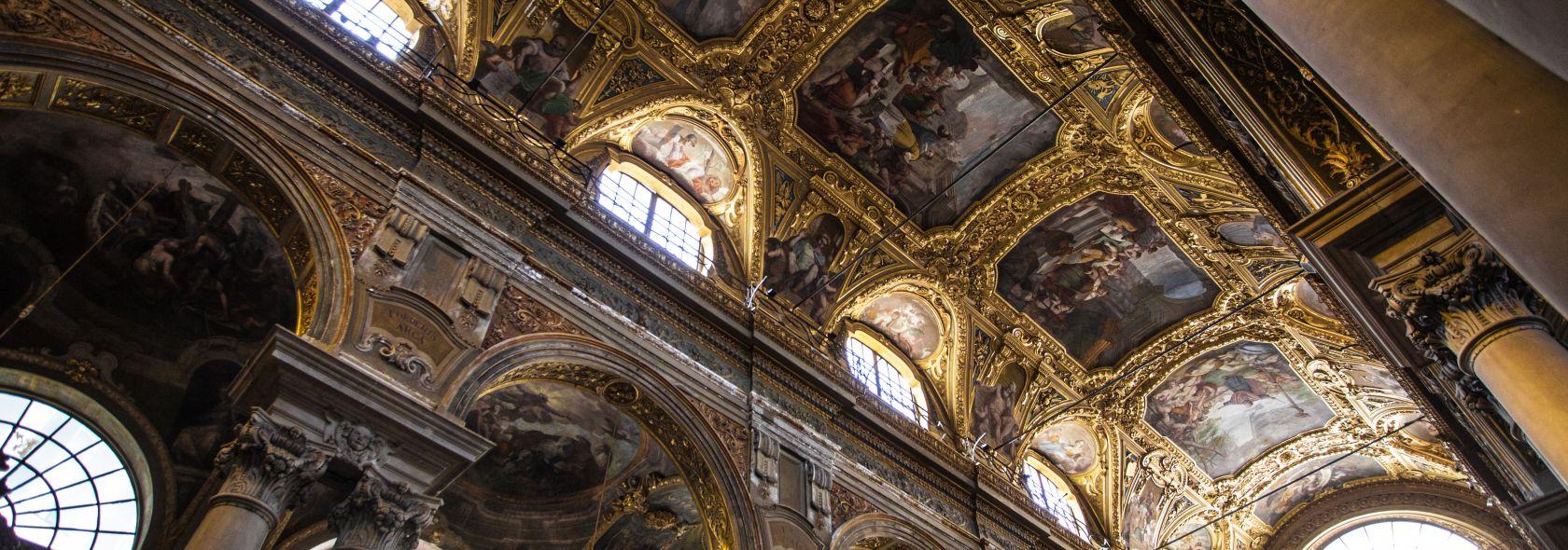 Basilica delle Vigne - affreschi seicenteschi della volta