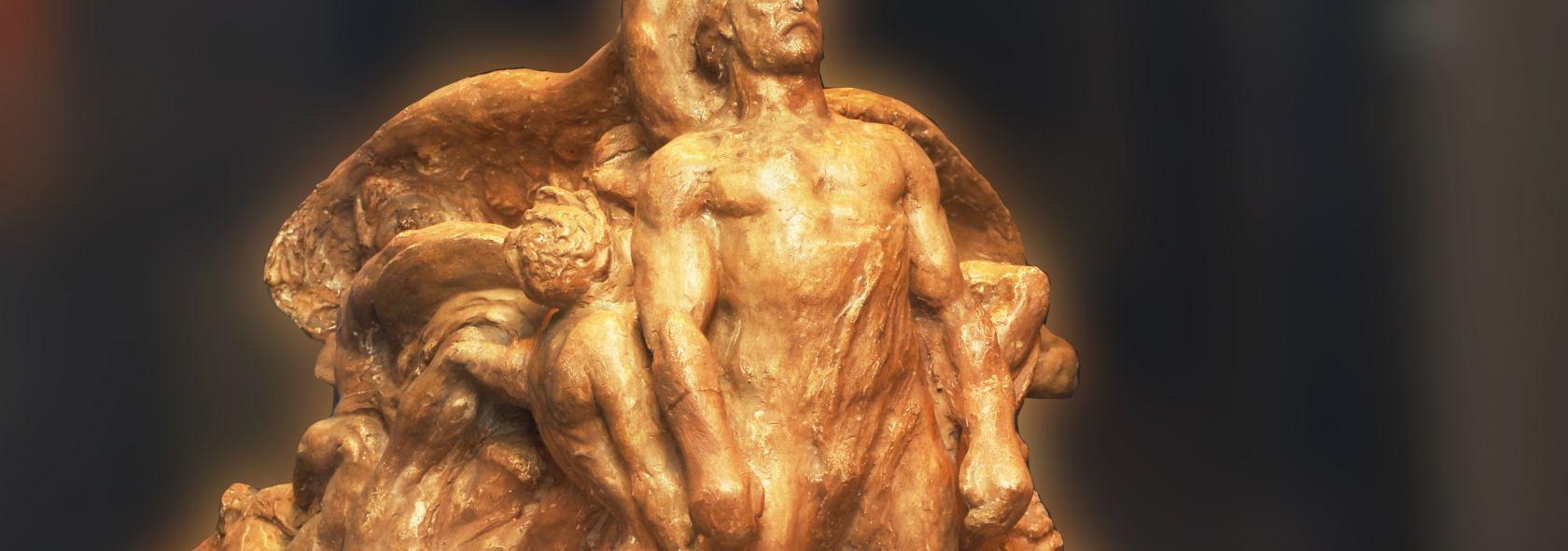 Museo del Risorgimento, bozzetto in gesso del Monumeto ai Mille di Eugenio Baron