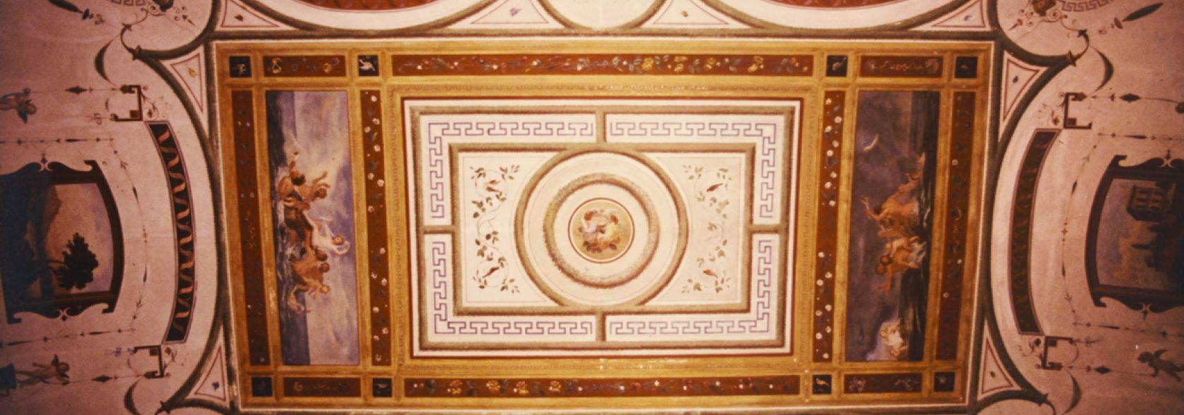 Museo d'arte contemporanea Villa Croce - soffitto Sala Conferenze con grottesche