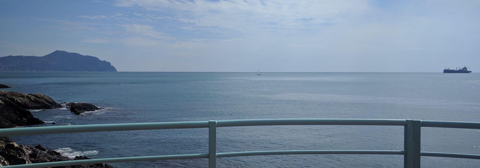 Nervi - sea and the Portofino promontory