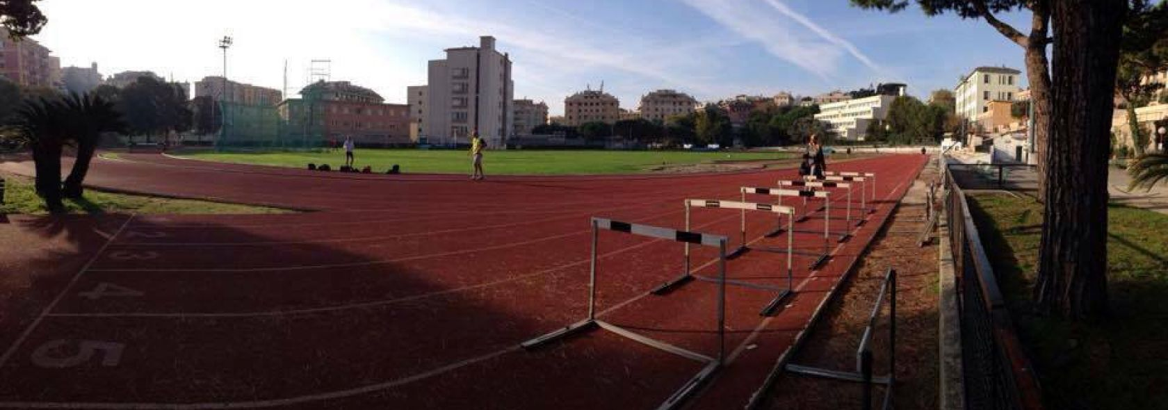 L'impianto di atletica a Villa Gentile