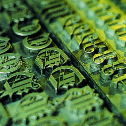 Museo della Stampa - Esempio di Gotico Old English. © Armus Genova