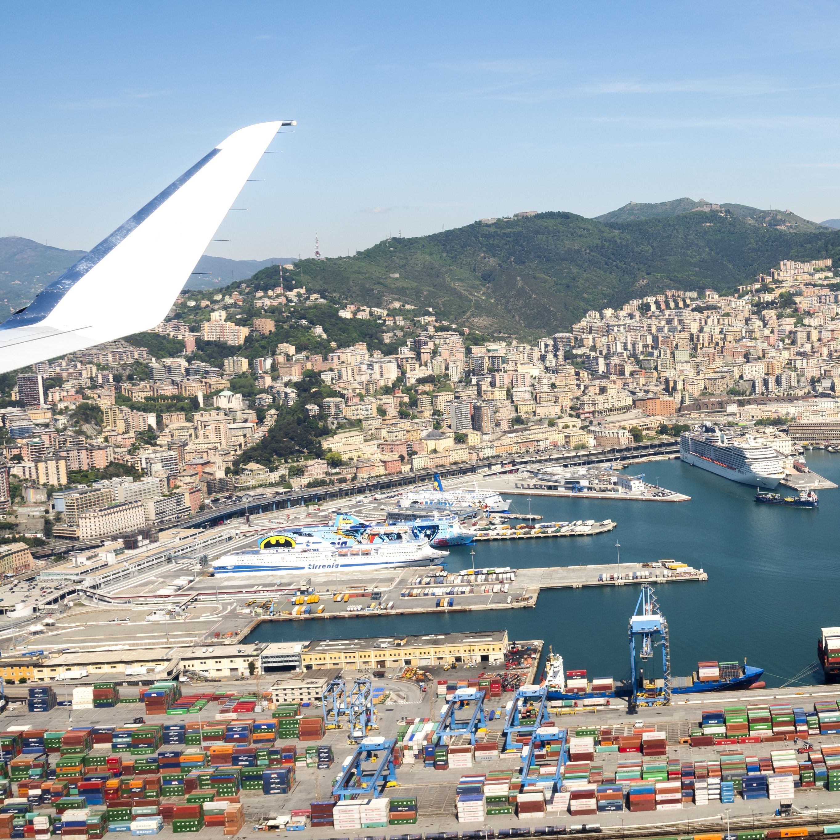 Genoa by plane