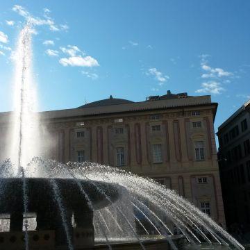 Fontana di Piazza de Ferrari - Foto Ufficio Comunicazione Città Metropolitana di