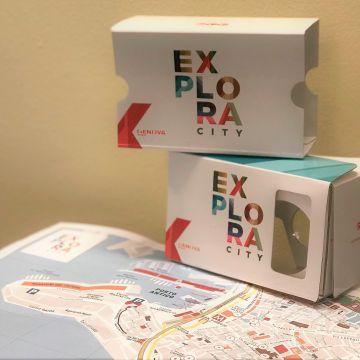 Exploracity, il visore Cardboard VR