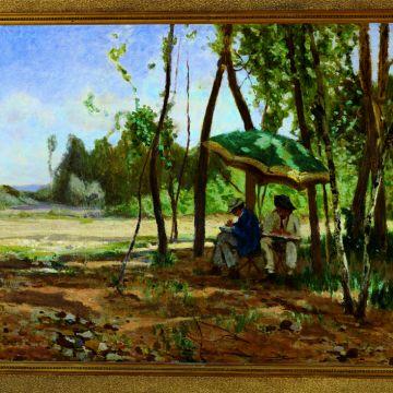 Ernesto Rayper, I pittori - 1867 ca - ©DOCSAI - Archivio fotografico, Genova