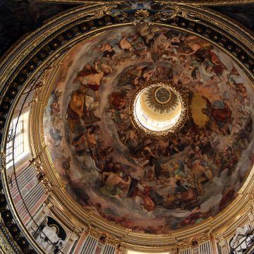 Chiesa del Gesù, decorazione ad affresco dell cupola (foto: Sailko CC 3.0)