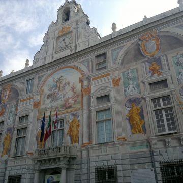 The sixteenth-century façade of Palazzo San Giorgio