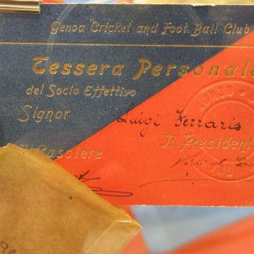 Museo della Storia del Genoa - La tessera sociale di Luigi Ferraris