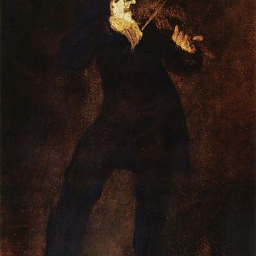Eugène Delacroix, Ritratto di Niccolò Paganini