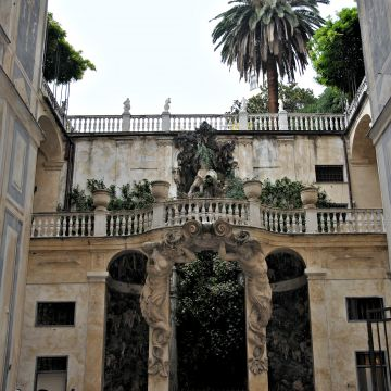 Palazzo Nicolosio Lomellini, poi Podestà - il ninfeo