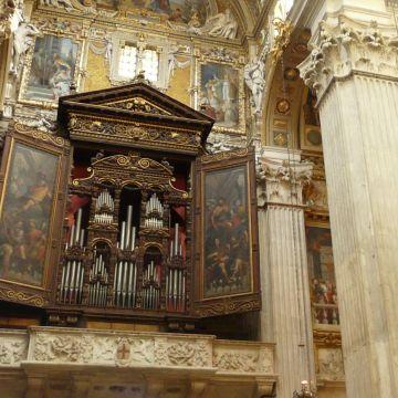 Gio Ansaldo - portelle d'organo con episodi della vita di San Lorenzo